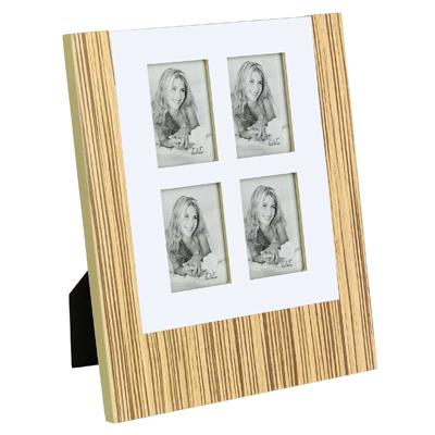 מסגרת עץ משולבת אלומיניום ל - 4 תמונות