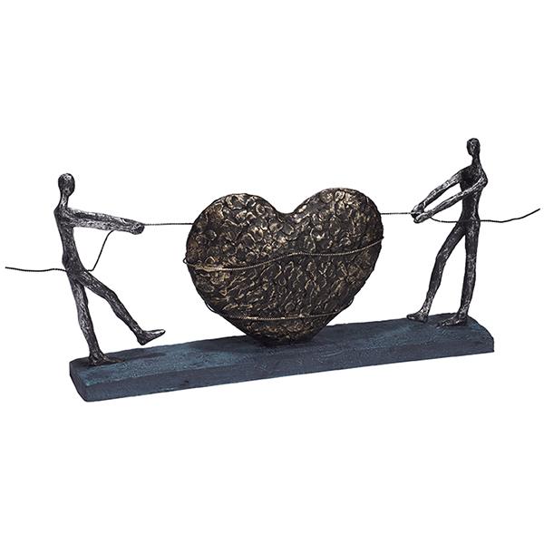 """פסל אומנותי - """"אהבה במשיכה"""""""